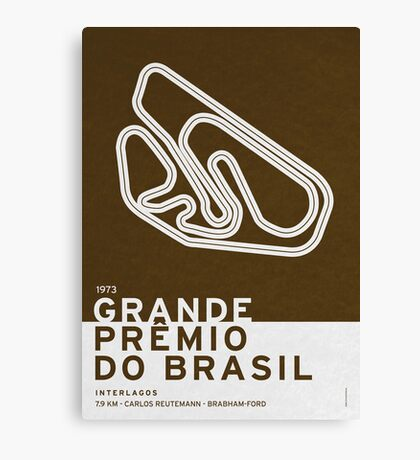 Legendary Races - 1973 Grande Premio do Brasil Canvas Print