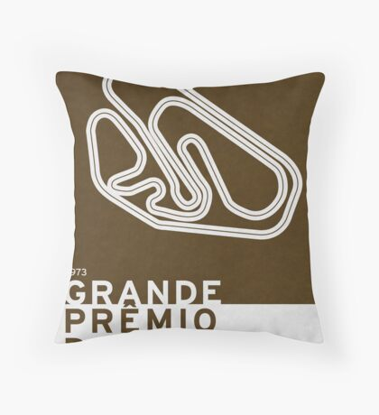 Legendary Races - 1973 Grande Premio do Brasil Throw Pillow