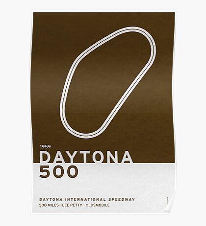 Legendary Races - 1959 Daytona 500 Poster