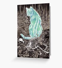Ghost Cat Prowls Forever Greeting Card