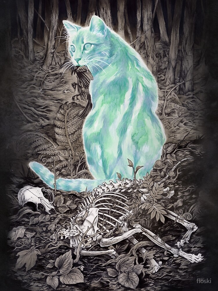 Ghost Cat Prowls Forever by fioski