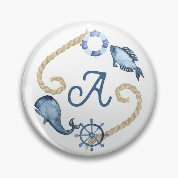 Coastal Initial Wreath A Pin