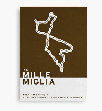Legendary Races - 1927 Mille Miglia Canvas Print