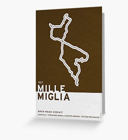 Legendary Races - 1927 Mille Miglia Greeting Card