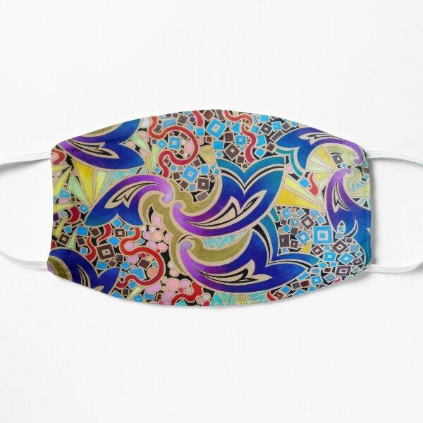 Paisley waves and heat flashes Flat Mask
