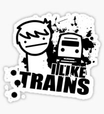 I like trains Sticker