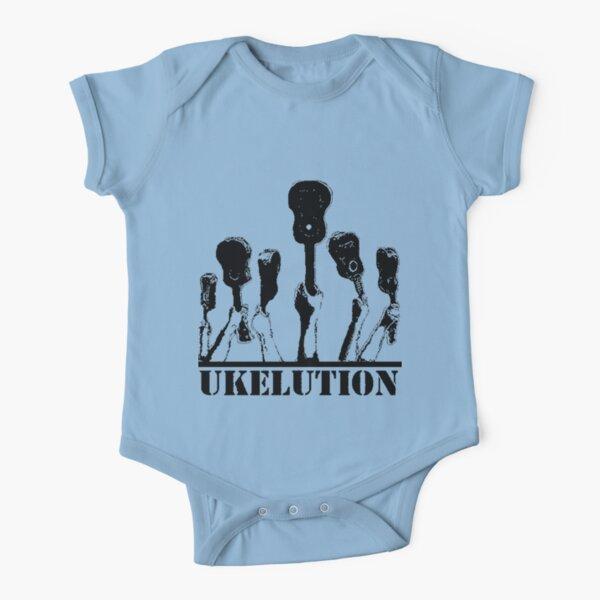 Ukelution: The Ukulele Revolution Short Sleeve Baby One-Piece