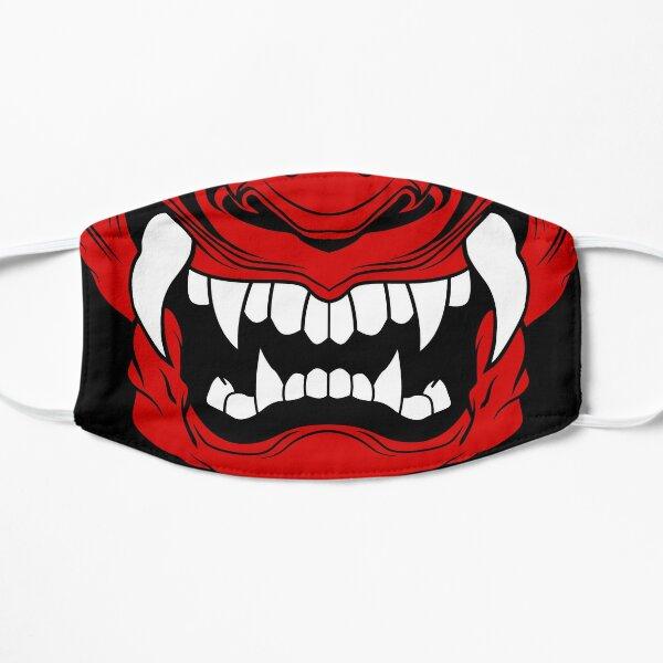 Face Mask, Samurai Oni Mask Flat Mask