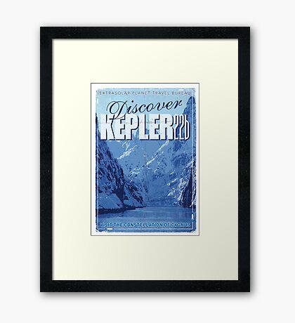 Exoplanet Travel Poster KEPLER 22b Framed Print