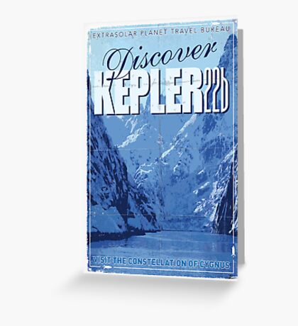 Exoplanet Travel Poster KEPLER 22b Greeting Card