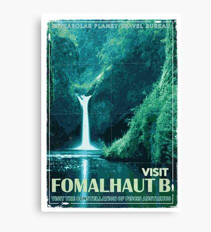 Exoplanet Travel Poster Fomalhaut B Canvas Print