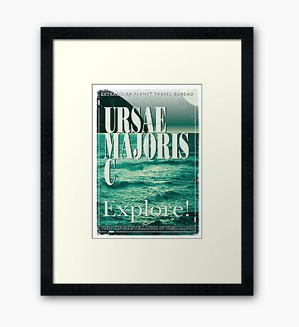 Exoplanet Travel Poster Ursae Majoris Framed Print