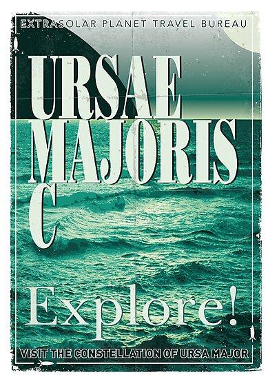 Exoplanet Travel Poster Ursae Majoris by Chungkong
