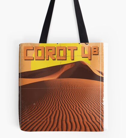 Exoplanet Travel Poster COROT 4 Tote Bag