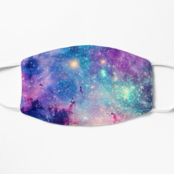 Galaxy print ,galaxy mask ,quarantine galaxy Flat Mask