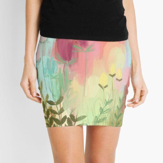 Peachy Meadow  Mini Skirt
