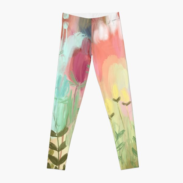 Peachy Meadow  Leggings
