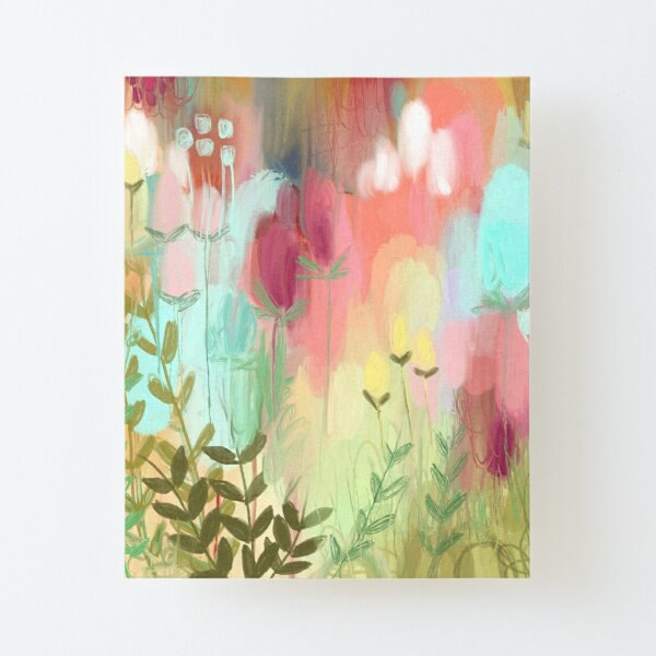 Peachy Meadow  Canvas Mounted Print