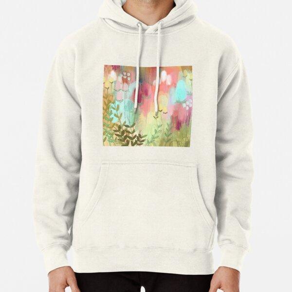 Peachy Meadow  Pullover Hoodie