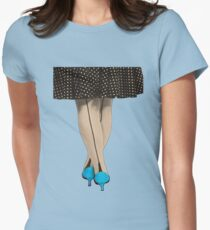 Hot Shoes - Blue! Womens Fitted T-Shirt