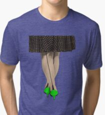 Hot Shoes - Green! Tri-blend T-Shirt