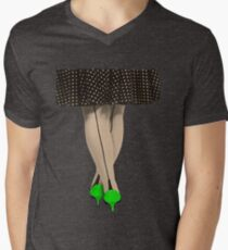 Hot Shoes - Green! Mens V-Neck T-Shirt