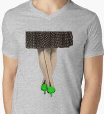 Hot Shoes - Green! Mens V-Neck T-Shirt
