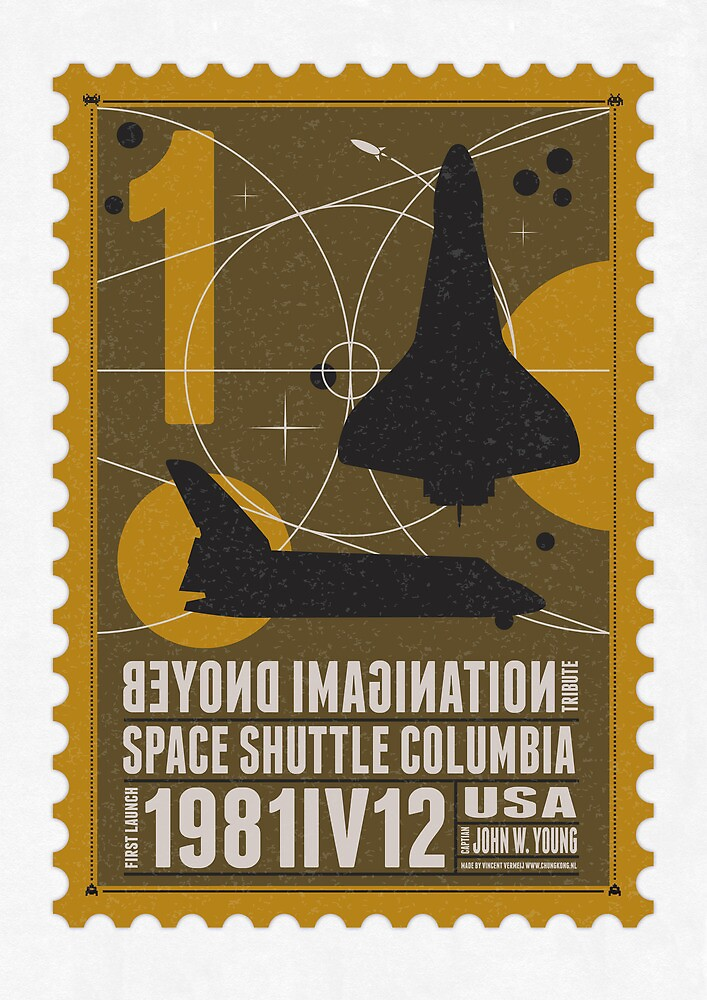 Quot Starship 01 Poststamp Spaceshuttle Quot By Chungkong
