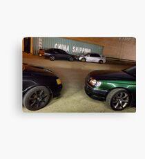Starlet, Skyline GT-R, Evo VII and Stagea Canvas Print
