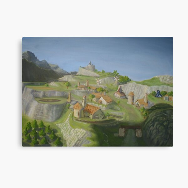 Hateno Village - Legend of Zelda: Breath of the Wild Canvas Print
