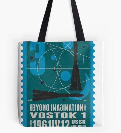 Starship 03 - poststamp - Vostok Tote Bag
