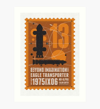 Starship 13 - poststamp - Space1999  Art Print