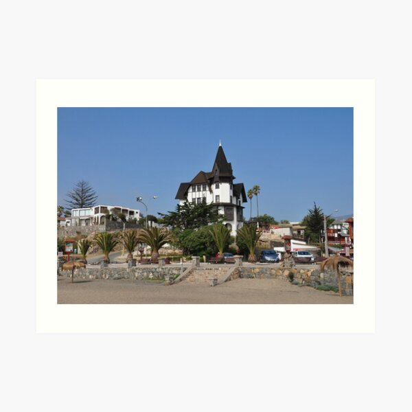 Townhall of Papudo, Chile Art Print
