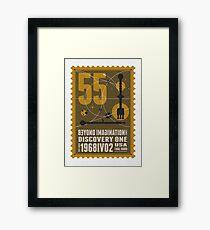 Starship 55 - poststamp - DicoveryOne  Framed Print