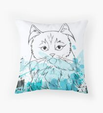 The Teal One Throw Pillow
