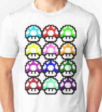 Multi-coloured Mushrooms Unisex T-Shirt
