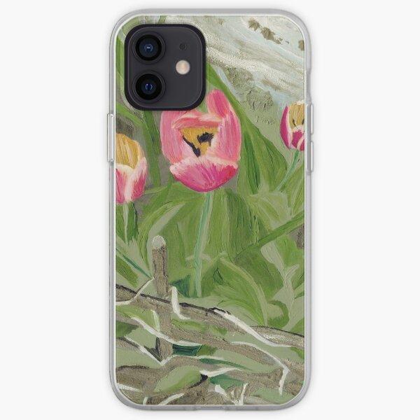Backyard Tulips iPhone Soft Case