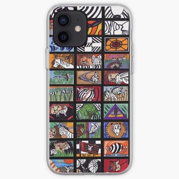 Zebra Collage iPhone Soft Case
