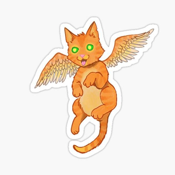 Flying Magic Cat Sticker