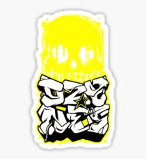 Skull Paint (Yellow) Sticker