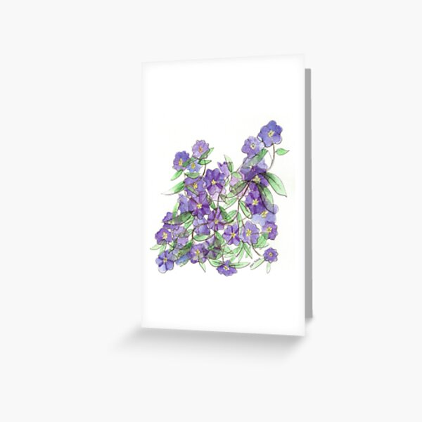 Purple Flowers on Anza Greeting Card