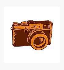 Camera 35mm Vintage Woodcut Photographic Print