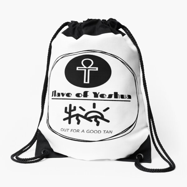 Yeshua, Out For A Good Tan Drawstring Bag