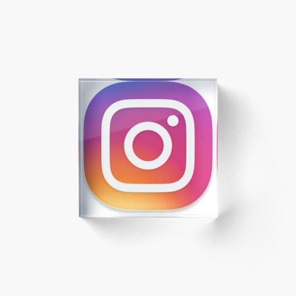 Instagram Acrylblock
