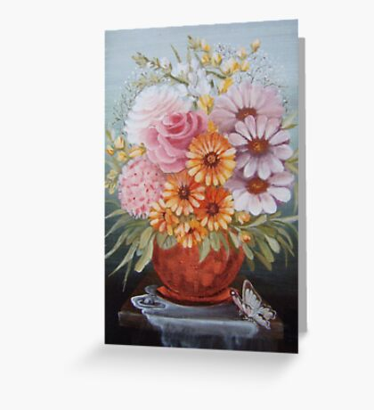 Copper vase Greeting Card