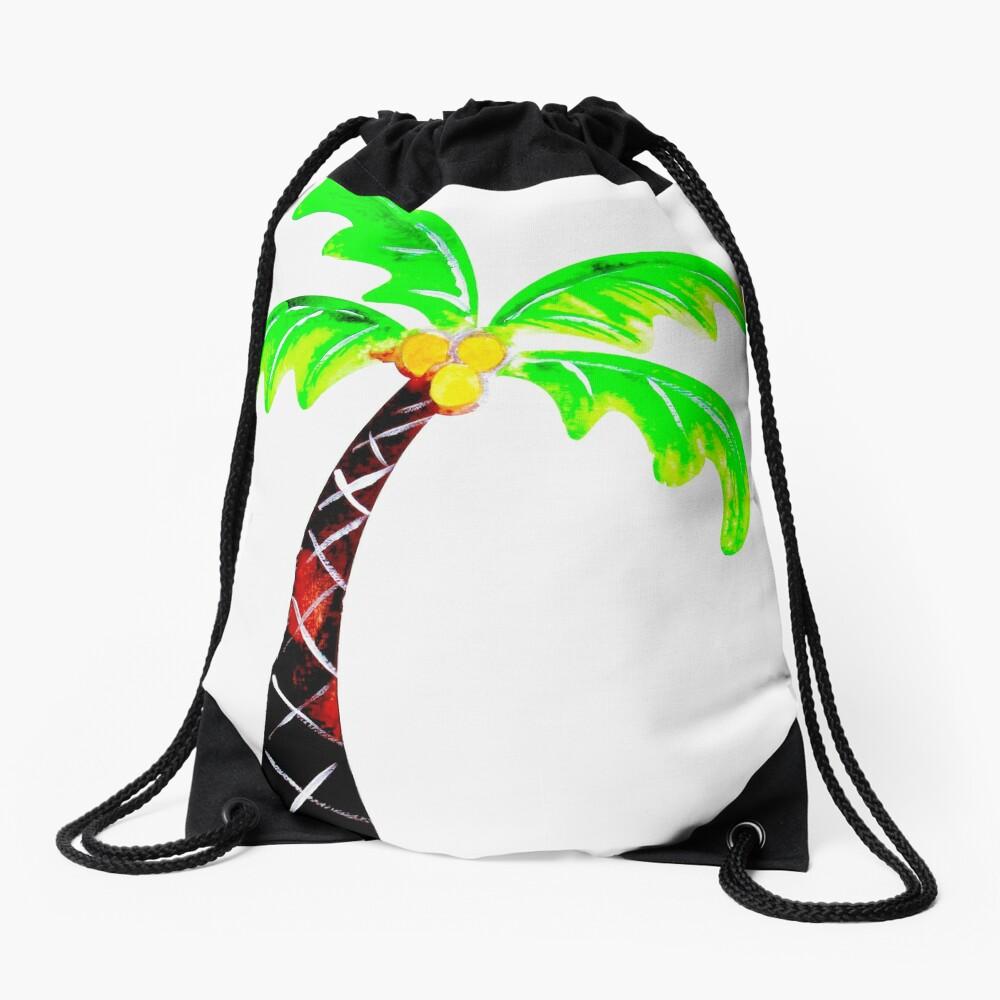 Palm Tree Drawstring Bag