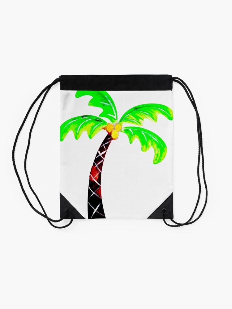 Alternate view of Palm Tree Drawstring Bag
