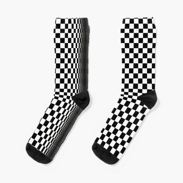 Optical illusion-checkerboard Socks