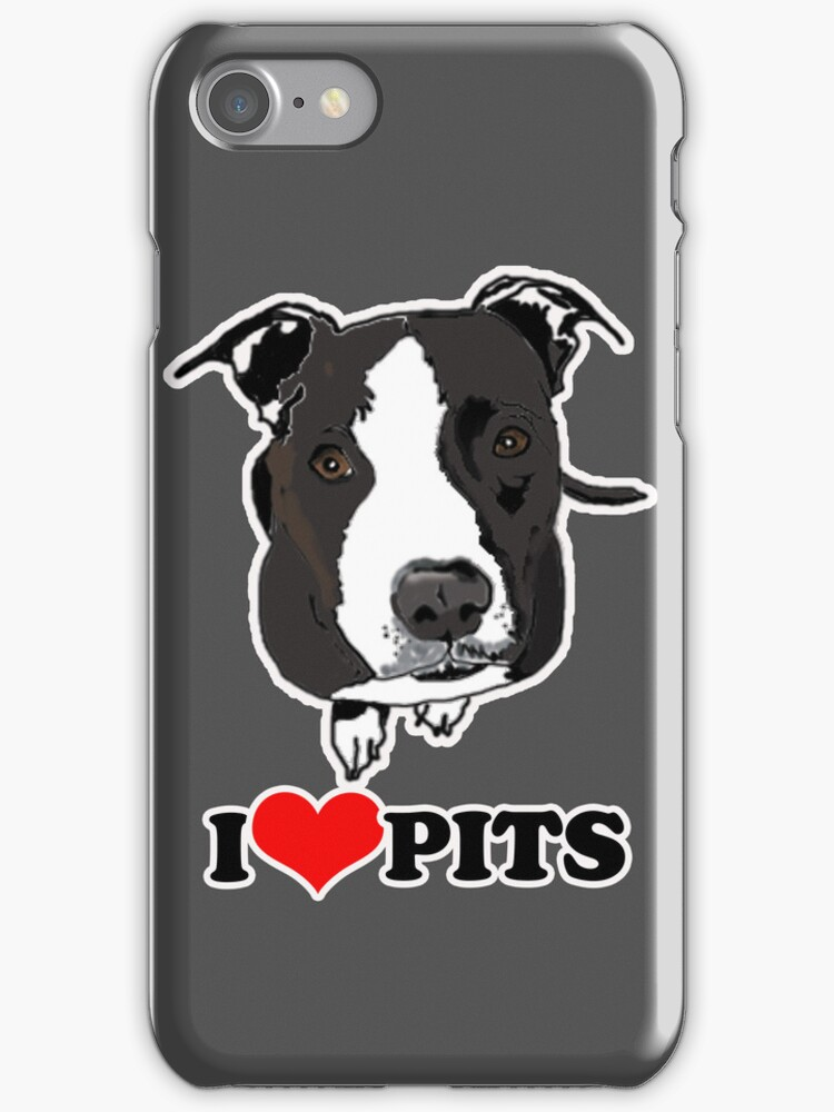 I love Pit Bulls Case by JessDesigns