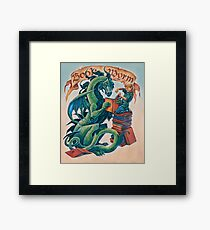 Book Wyrm Framed Print